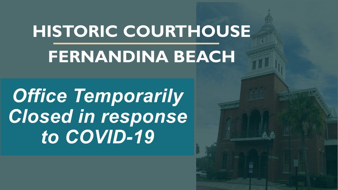 HISTORIC COURTHOUSE closing due to COVID-19