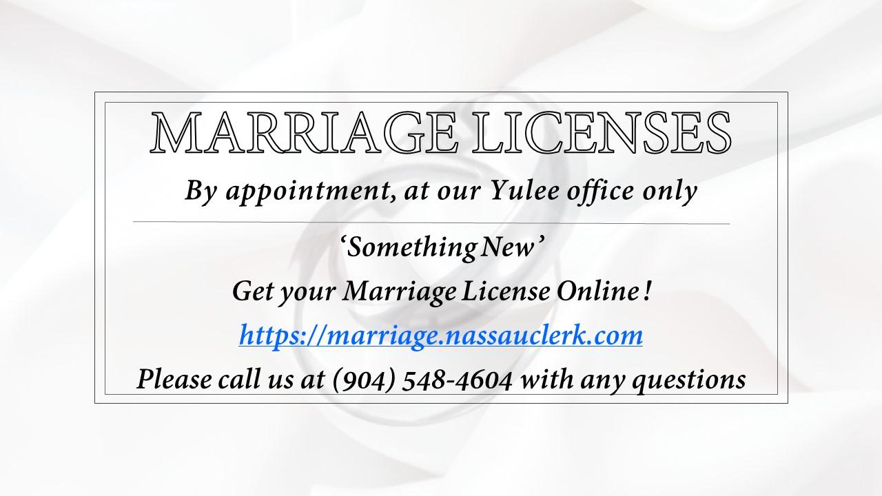 NCOM – Marriage Licenses